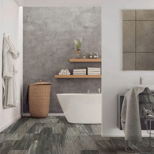 Bathroom view with Vinyl flooring | Shoreline Flooring