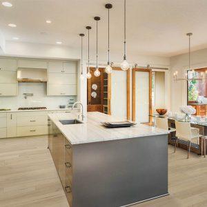 Kitchen with Vinyl flooring | Shoreline Flooring