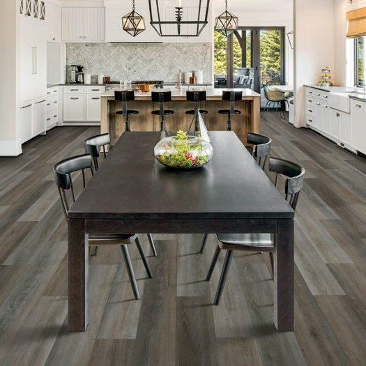 Laminate flooring in dining room | Shoreline Flooring