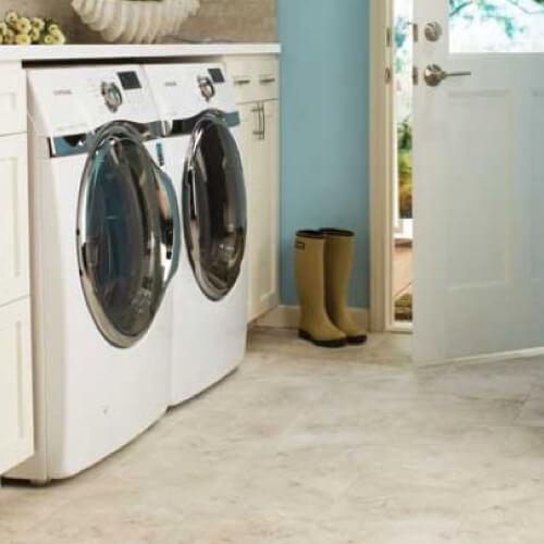 Tile laundry room | Shoreline Flooring