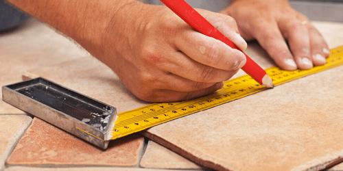 Tile installation with proper measurements | Shoreline Flooring