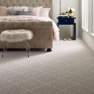 Designed Carpet in bedroom | Shoreline Flooring