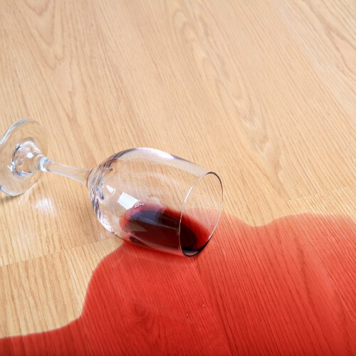 Spills and stains on floor | Shoreline Flooring