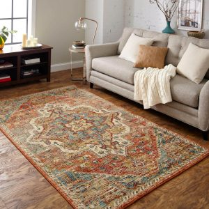 Area Rug in living room | Shoreline Flooring